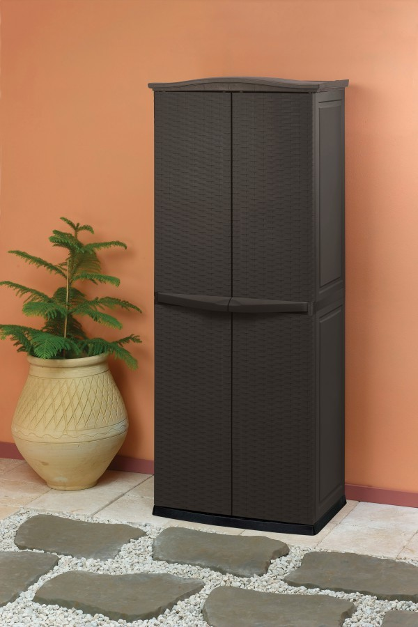 keter 17190092 uni ver sal schrank rattan style uti li ty shed. Black Bedroom Furniture Sets. Home Design Ideas