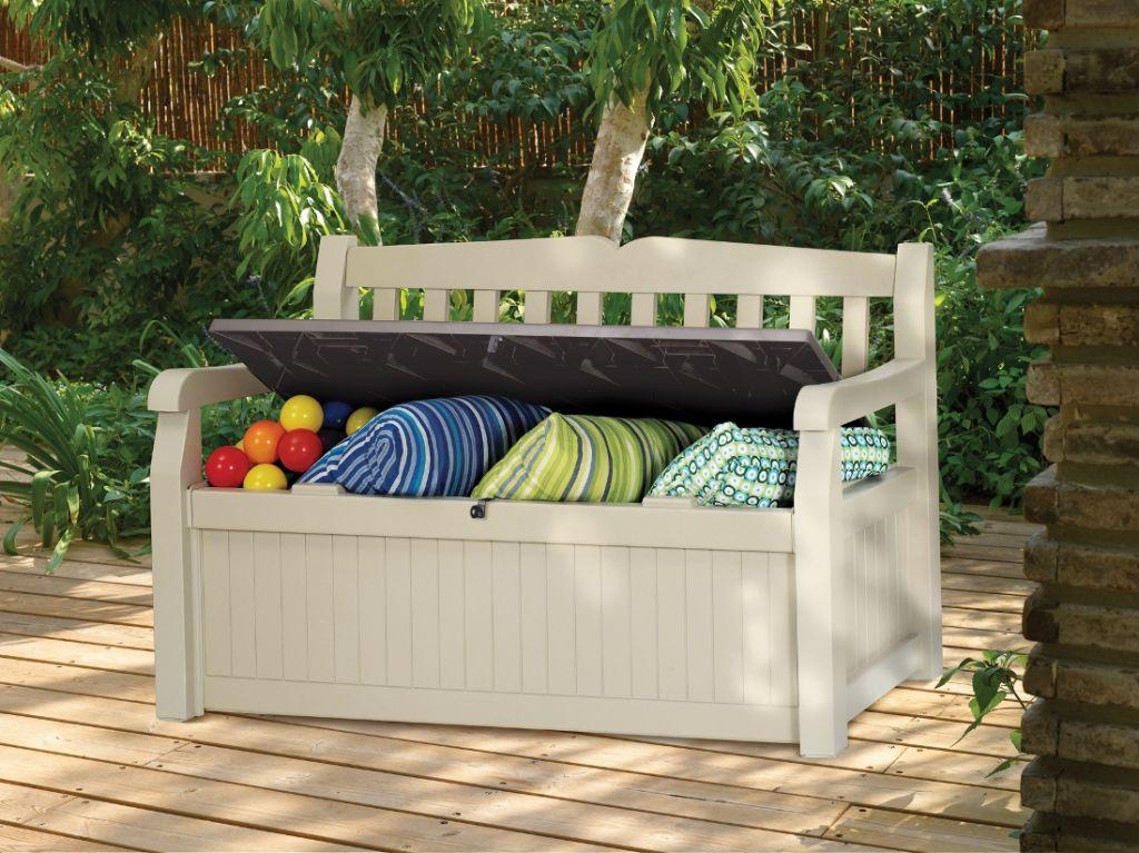keter eden gartenbank mit truhe 2 sitzer. Black Bedroom Furniture Sets. Home Design Ideas