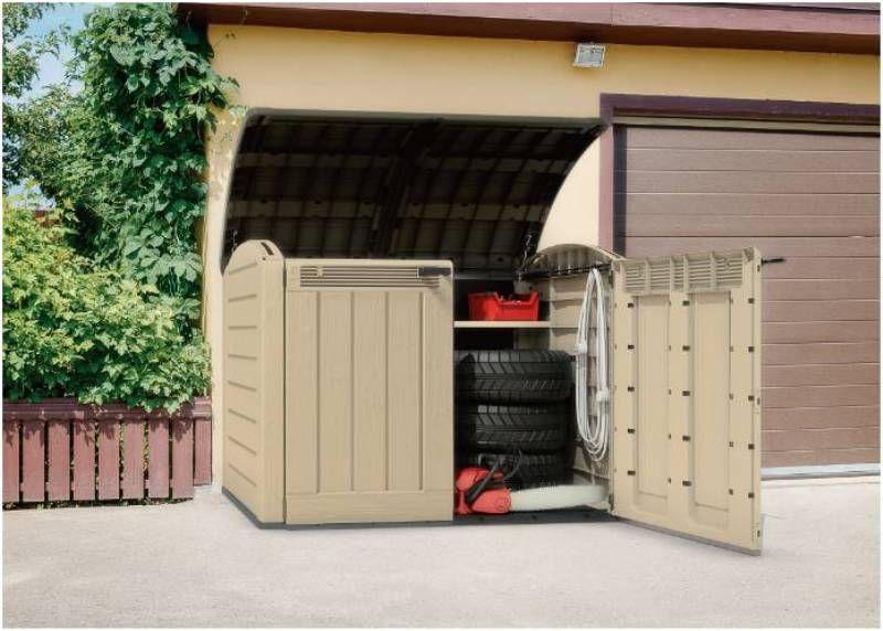 keter store it out ger tebox fahrrad box gartenbox ger teschrank kunststoff neu. Black Bedroom Furniture Sets. Home Design Ideas