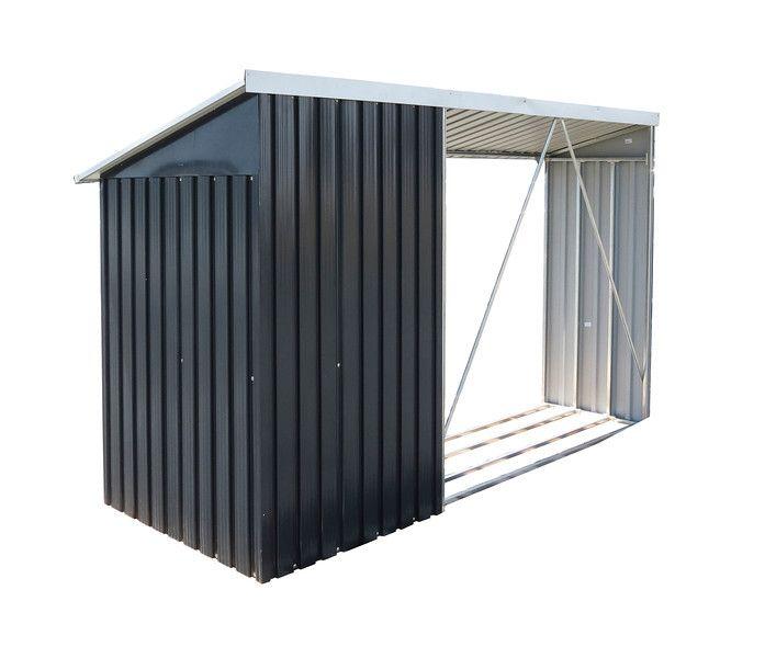 kaminholzregal mit aufbewahrungsschrank duramax gr n 7165. Black Bedroom Furniture Sets. Home Design Ideas