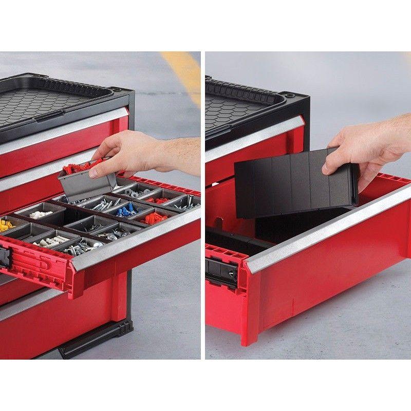 werkzeugkoffer mit 2 schubladen keter 17199303. Black Bedroom Furniture Sets. Home Design Ideas