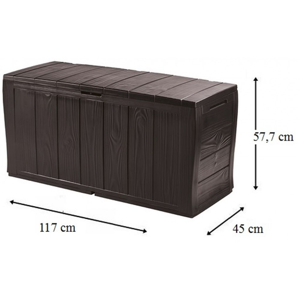 keter sherwood aufbewahrungsbox 270 l braun 17198596. Black Bedroom Furniture Sets. Home Design Ideas