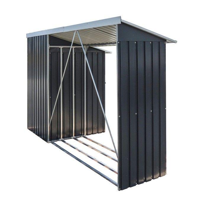 kaminholzregal mit aufbewahrungsschrank duramax anthrazit tepro 7163. Black Bedroom Furniture Sets. Home Design Ideas