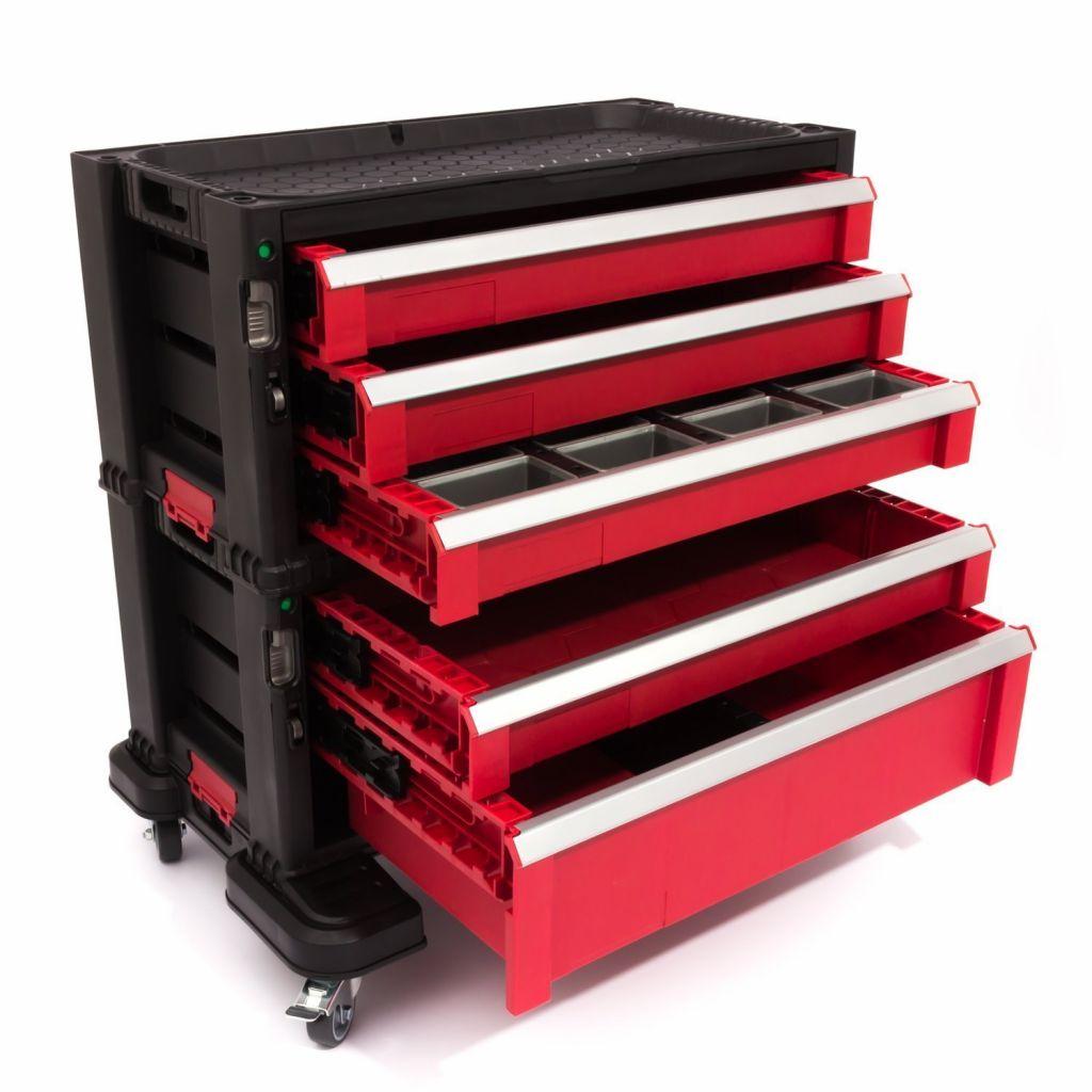 Werkstattschrank mit 5 Schubladen 56x29x50cm Keter 17199301 ...
