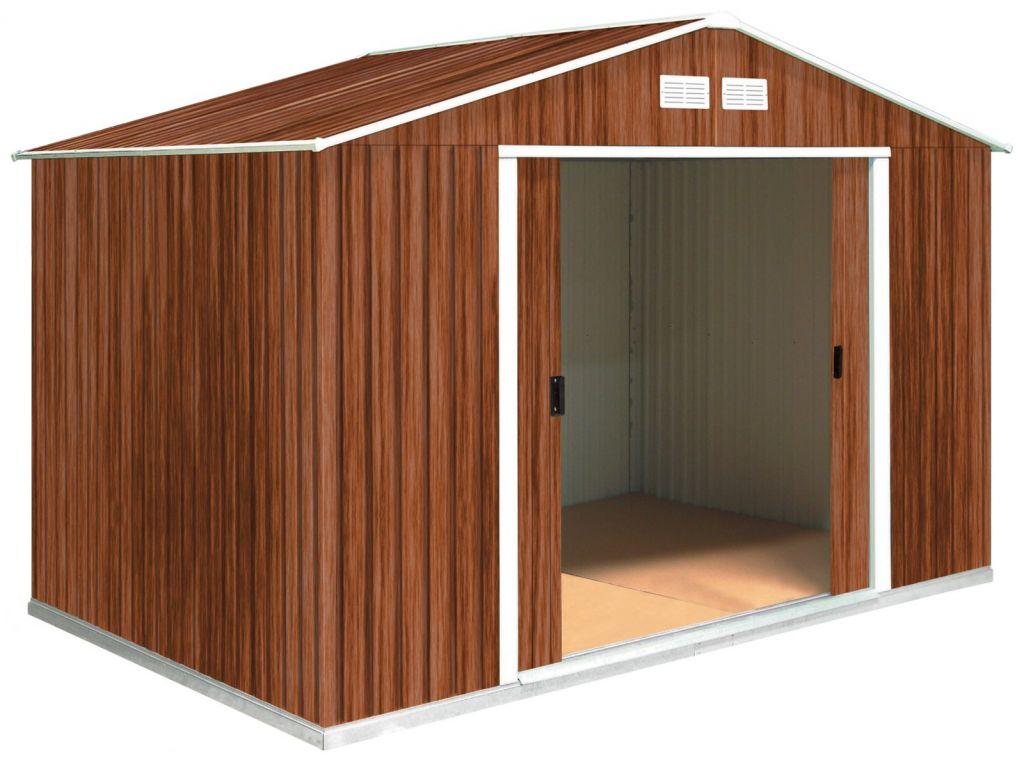 tepro metallger tehaus colossus 10x10 holzoptik 321 x 302. Black Bedroom Furniture Sets. Home Design Ideas