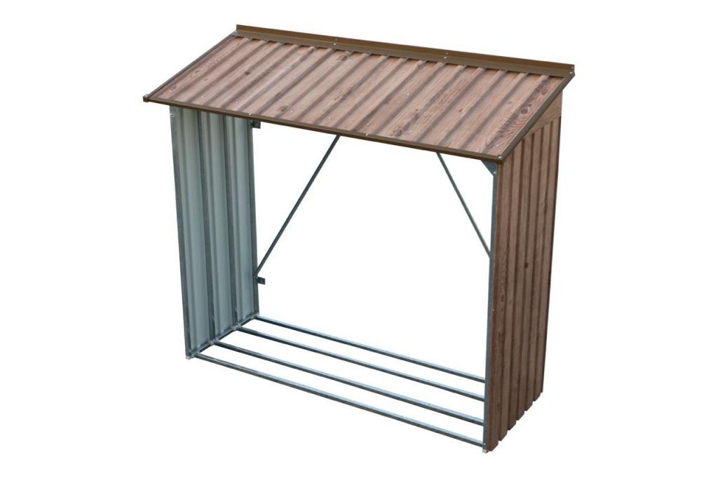 metallger tehaus duramax titan 4 7 m2 kaminholzregal wood store holz dekor eiche. Black Bedroom Furniture Sets. Home Design Ideas